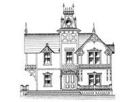 Victorian House #1 Notepad