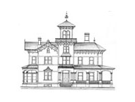 Victorian House #3 Notepad