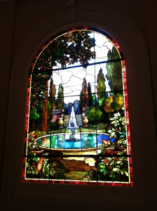 stained glass restored interior